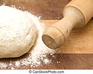 Dough with rolling pin