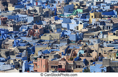 Jodhpur - second largest city in Rajasthan, India, view from...