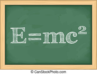 Formula of Energy - Formula of energy on blackboard, vector...