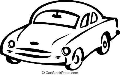 Abstract retro car