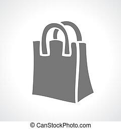 Shopping bag icon - Shopping bag vector icon