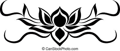 lotus tattoo - the lotus tattoo is in vector file