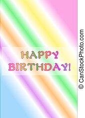 Neon Rainbow Happy Birthday