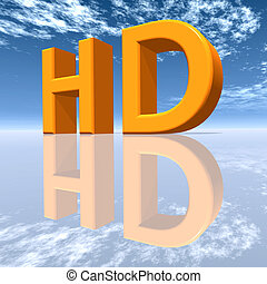 HD - High Definition - Computer generated 3D illustration...