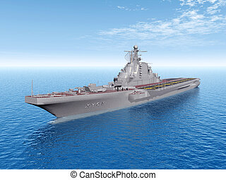 Russian Aircraft Carrier - Computer generated 3D...