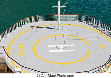 Helicopter Pad on Bow of Cruise Ship