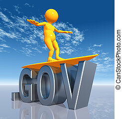 GOV Top Level Domain - Computer generated 3D illustration...