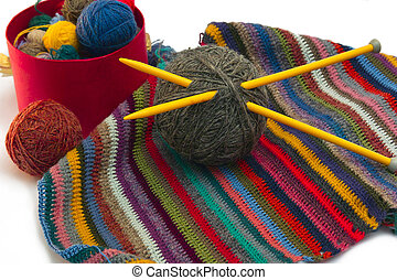 Knitting, threads - This photo shows the yarn for knitting...