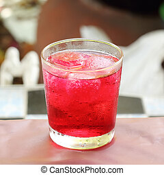 Sa-la soda drink served on the table