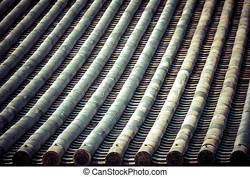 Detail of a japanese roof