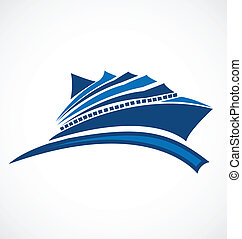 Cruise logo - Cruise identity card business icon vector