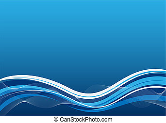 business background blue with waves