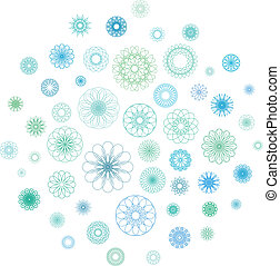 Round Ornament Set - Round color ornament set. Vector...
