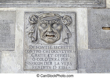 Postbox for anonymous denunciations - VENICE, ITALY-MARCH...