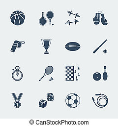 Sport equipments of flat design.Vector isolated for web