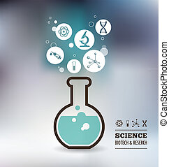 Research, Bio Technology and Science infographic - Research,...
