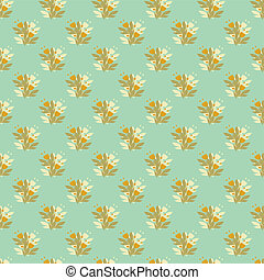 Floral seamless pattern in retro style ornament