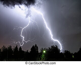 big lightning - a big lightning in a summer night