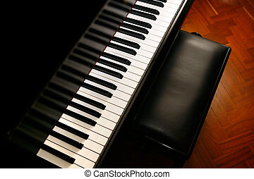 Piano music - classic piano ready for music concert
