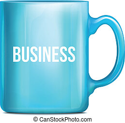 Business Blue Cup