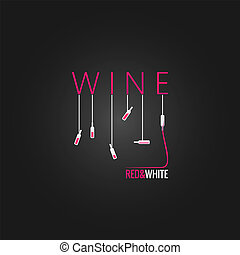 wine concept design background