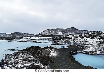 The Blue Lagoon geothermal bath resort in wnter - The Blue...