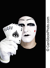portrait, mime, royal, embraser