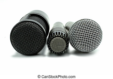 microphone set - one condenser microphone and two dynamic...