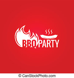 barbecue fire design background - barbecue fire design menu...