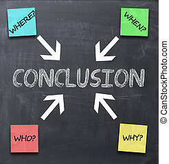 conclusion - reach to a conclusion