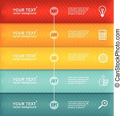 Vector Timeline Infographic. Colorful Template