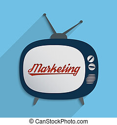 Mass media - Concept for advertising industry, marketing and...