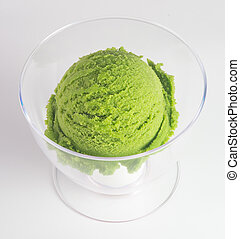 ice cream green tea ice cream on a background - ice cream...