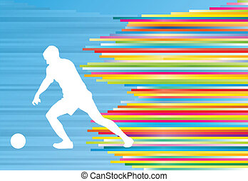 Soccer player vector background template concept for poster