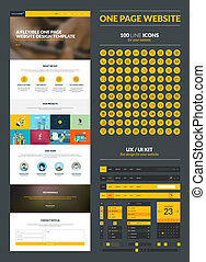 One page website design template - All in one set for...