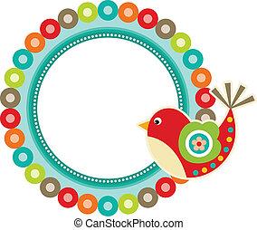 Bird Frame Spring - Scalable vectorial image representing a...