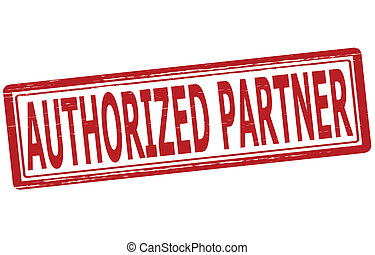 Authorized partner - Stamp with text authorized partner...
