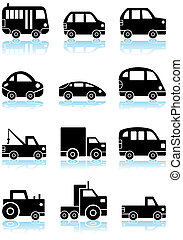 Vehicle Icon Black Set