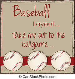 Vintage baseball layout