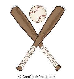 vintage baseball and wooden bat on transparent background...