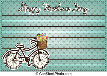retro or vintage bicycle with a basket full of flowers