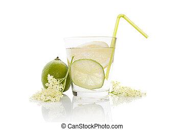 Elderberry lemonade - Luxurious elderberry lemonade still...