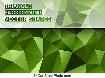 Green Triangles - Triangles background. Vector abstract...