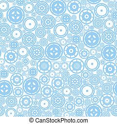 Seamless Cogwheel Pattern