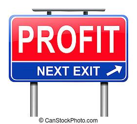 Profit concept.