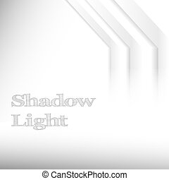 Shadow Light - Shadow and Light. Gray gradient lines as...