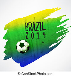 Creative Soccer Vector Design - Creative Soccer In Brazil...