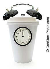 Time for a coffee break - Taking a break concept with clock...