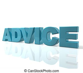 Advice - 3D Text Advice Blue