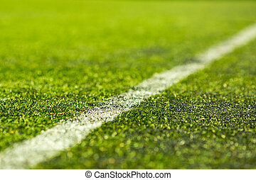 Artificial soccer pitch - Close-up of artifical soccer pitch...